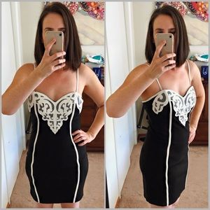LBD with White Contrast and Mesh Detail